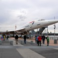 Standing rather forlornly on a barge at the end of a Manhattan jetty on New York's west side is retired British Airways Concorde aircraft, number G-BOAD.