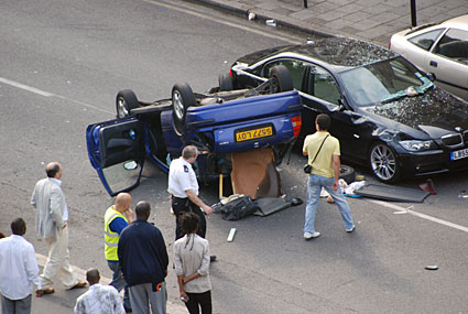 Coldharbour Lane car crash | urban75 blog