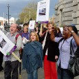 With Lambeth Council cabinet expected to set up a Libraries Commission to push through cuts of £750,000 by 2014, a demo assembled outside the meeting today.