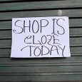 Shop sign, Atlantic Road, Brixton, yesterday.