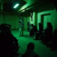 On Saturday, we popped down to see 'A Flow of Words,'  a spoken word event in the Dead House, underneath Somerset House.