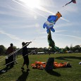 This was a lovely day out – the weather was fantastic and there was enough wind about to keep most kites up.