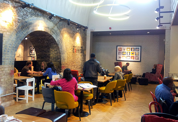 A look inside the new Costa Coffee, Brixton