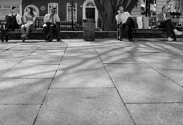 Saturday lunchtime at Golden Square, London W1