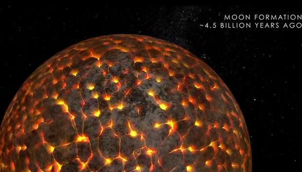 Funky NASA animation shows off the evolution of the Moon