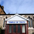 Sadly, it's nowhere as impressive as its grand name suggests, but here's the Temple of Truth on Railton Road, close to Herne Hill railway station.