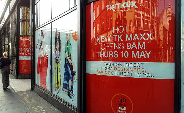 TK Maxx opening up in Brixton at 9am on 10th May 2012
