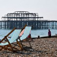 Unlikely to ever recover from the suspicious fires that saw this beautiful Grade I listed pier reduced to a burnt out shell, Brighton's West Pier cuts a sorrowful sight in the spring...