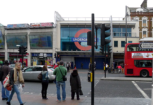 Brixton tube station: then and now