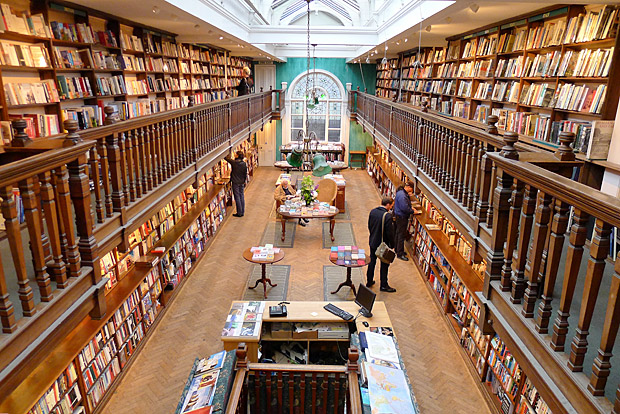 The Edwardian elegance of Daunt Books, Marylebone, London