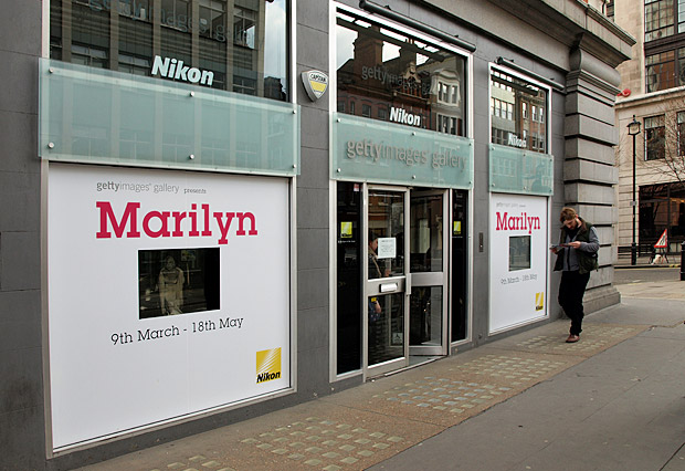 Marilyn Monroe at the Getty Images gallery, Oxford Circus, London 14th April 2012