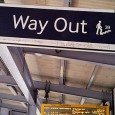The 39 steps sign seen on Brixton railway station. Well, it amused me for a moment