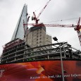 On a thoroughly miserable wet and grey April afternoon, I grabbed a couple of photos of The Shard and its accompanying London Bridge Quarter development.