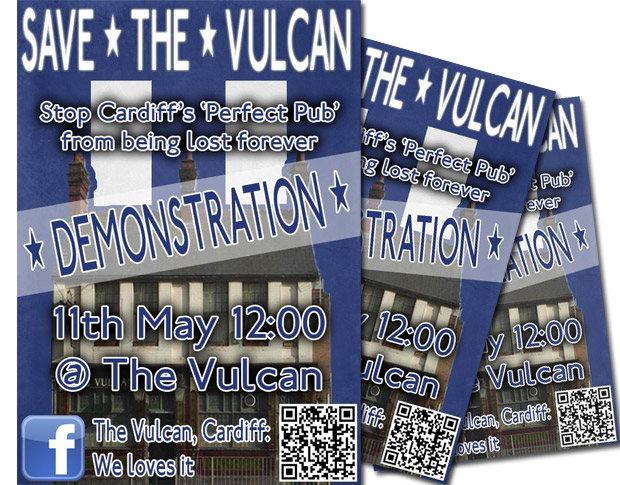 Save the Vulcan Hotel pub in Cardiff - demo on 11th May 2012