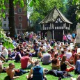 With the temperatures soaring up to 25C, Soho Square was jam-packed with lunchtime picnickers, office workers, tourists and the time-rich, all keen to soak up the glorious sunshine.