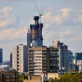 Soon to be the tallest residential building in the UK, St George Wharf Tower continues to thrust its cylindrical form up into the London skyline.