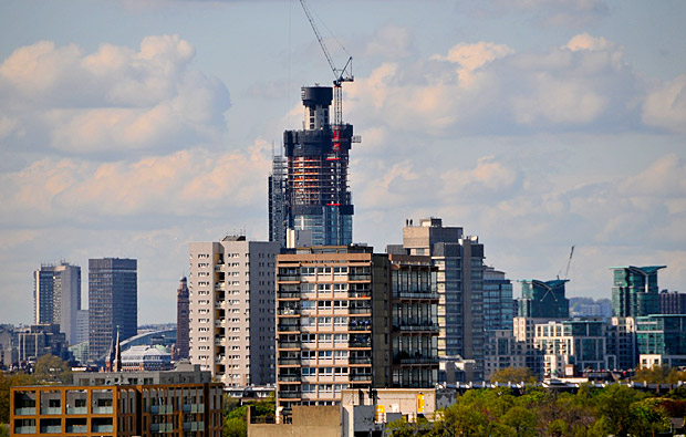 St George Wharf Tower rises in Vauxhall