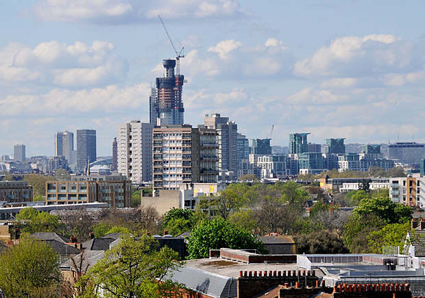 St George Wharf Tower rises in the London skyline