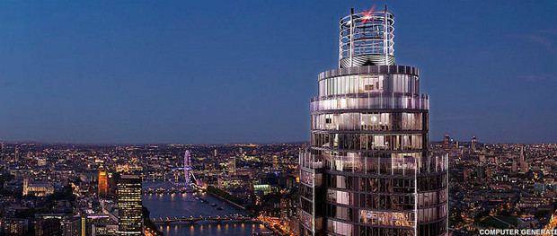 St George Wharf Tower - the tallest residential building in the UK hits 50 floors