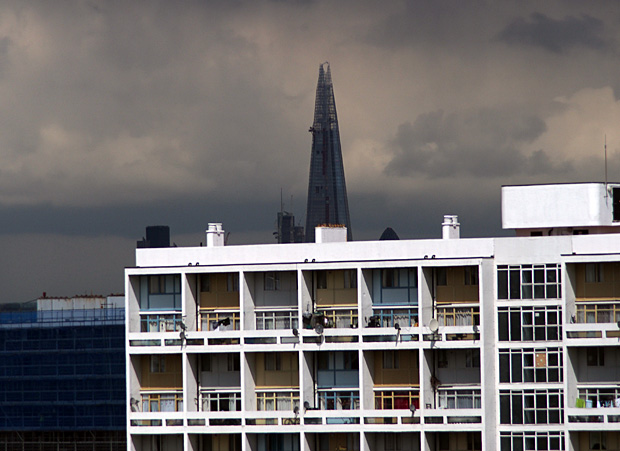 The Shard looks post-apocalyptic in the dark clouds of May