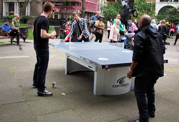 More tennis tables appear in London public parks thanks to Ping!