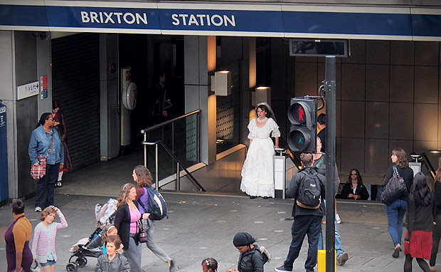 The bride of Brixton tube station, London SW9