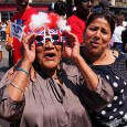 There was a real carnival atmosphere in Brixton this lunchtime as massive crowds came out to greet the Olympic torch on its route to Wembley before the start of the Olympic Games […]