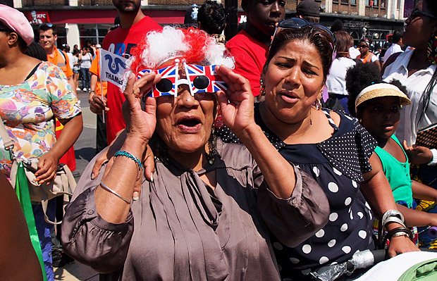 Brixton goes wild for the Olympic torch - photo report