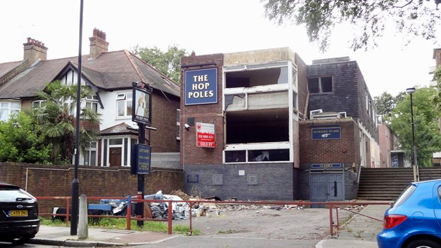 The Hop Poles, Upper Tulse Hill SW2 joins the list of Brixton lost pubs