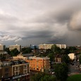 The skies are looking pretty angry over Brixton right now, with storm clouds darkening the skies to the south and to the east. Here's some views taken from Coldharbour Lane.