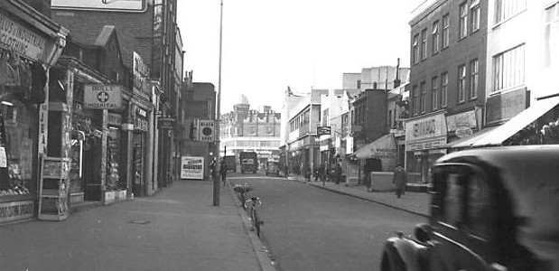 A look down Coldharbour Lane over half a century ago