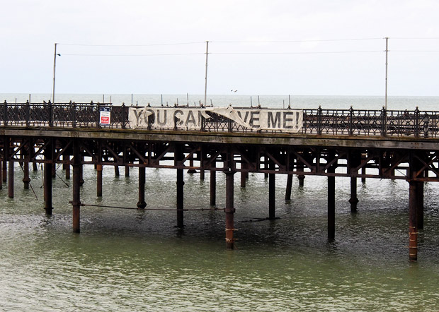 Hastings Pier continues to rust into the sea
