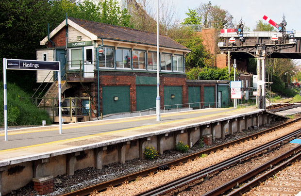 Hastings railway station rattles to ancient semaphore signals