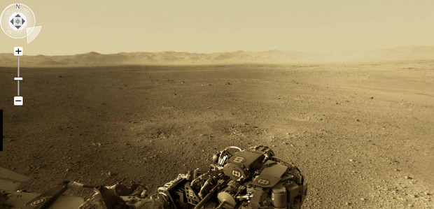 Interactive Mars panorama as seen by the Curiosity rover