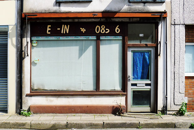 The Step In store has stepped off. Closed shop in Treforest, south Wales