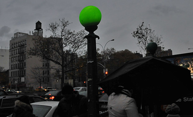Pic of the day: stormy afternoon at 2nd Avenue subway station, NYC