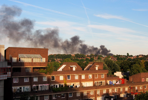 Smoke clouds seen over Brixton as Peckham school burns