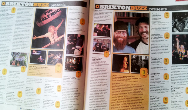 BrixtonBuzz listings now available in the Lambeth Weekender newspaper