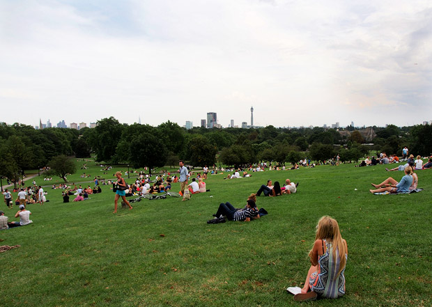 View from the top of Primrose Hill, north London
