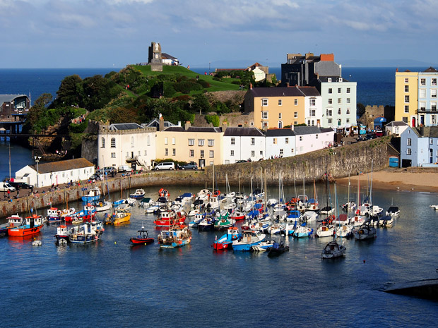Photos of the beaches, harbour and streets of Tenby, west Wales