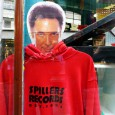 Here's Tom Jones, spotted gazing out of the window of the Spillers record store in central Cardiff. He certainly managed to out-stare me.