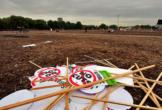 London TUC March, October 20th - Hyde Park aftermath