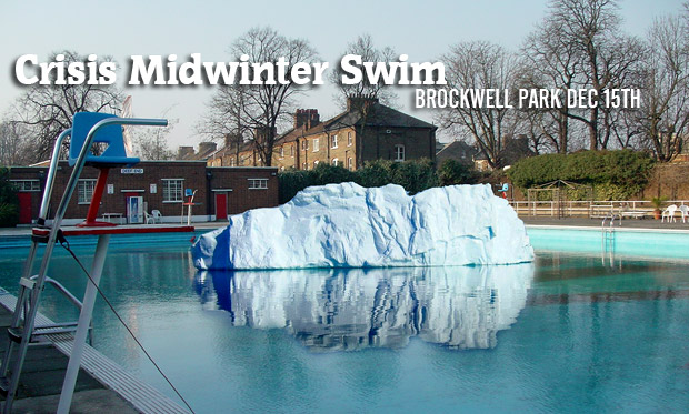 Crisis Midwinter Swim at Brockwell Lido - get involved!
