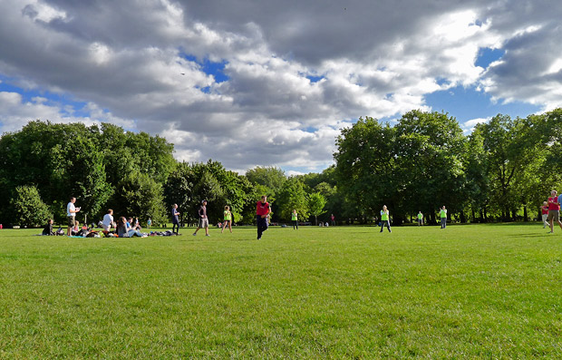 Last rays of summer, Green Park, London