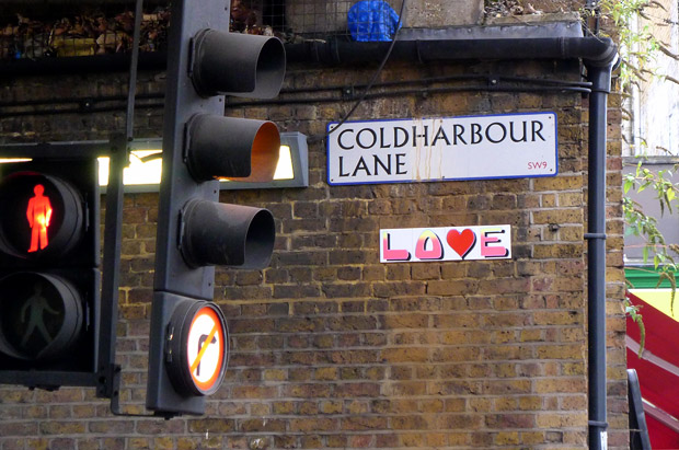 Pic of the day: love on Coldharbour Lane, Brixton