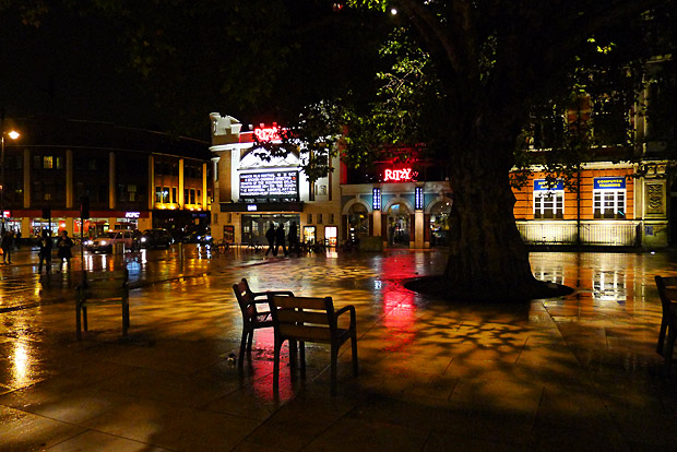 Pic of the day: Windrush Square, Brixton in the night rain