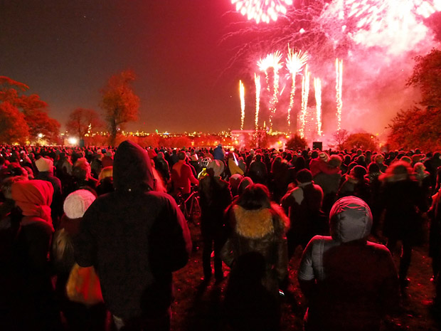 From photos from the Brockwell Park fireworks display, 2nd November 2012