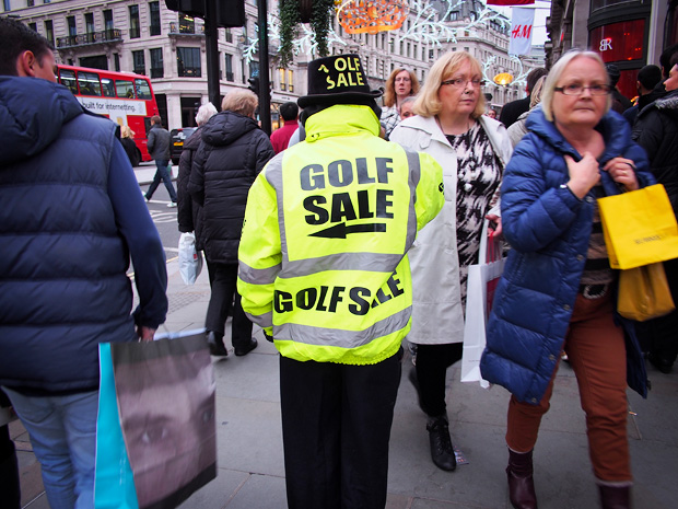 The return of the Golf Sale guy, Regent Street, London W1