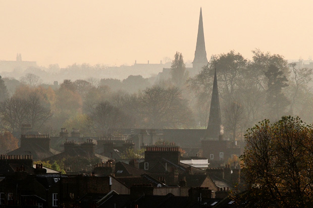 A misty afternoon in Brixton, south London