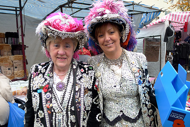Pearly Queens and Pie & Mash, Roman Rd Market, East London